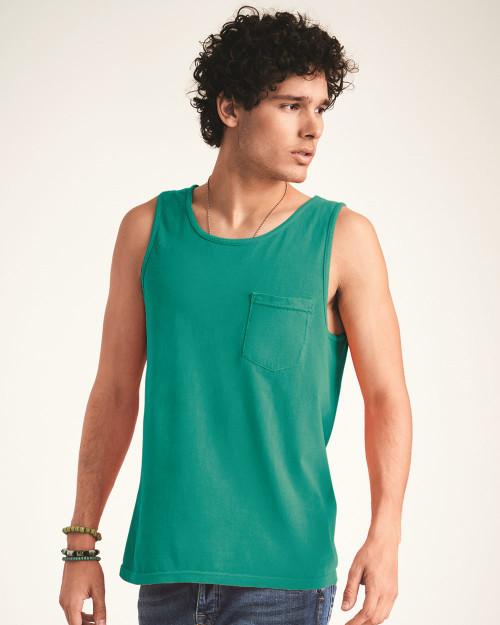 Comfort Colors Garment-Dyed Heavyweight Pocket Tank Top 9330