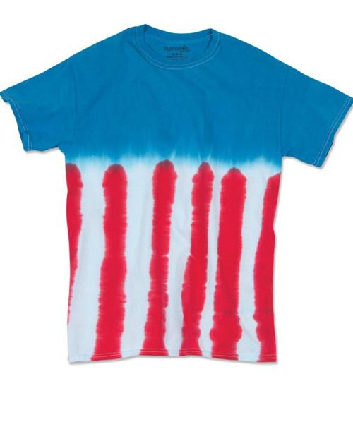 Dyenomite Flag Tie Dye T-Shirt 200US