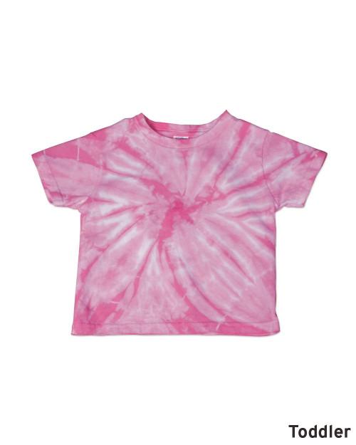 Dyenomite Toddler Cyclone Tie Dye T-Shirt 20TCY