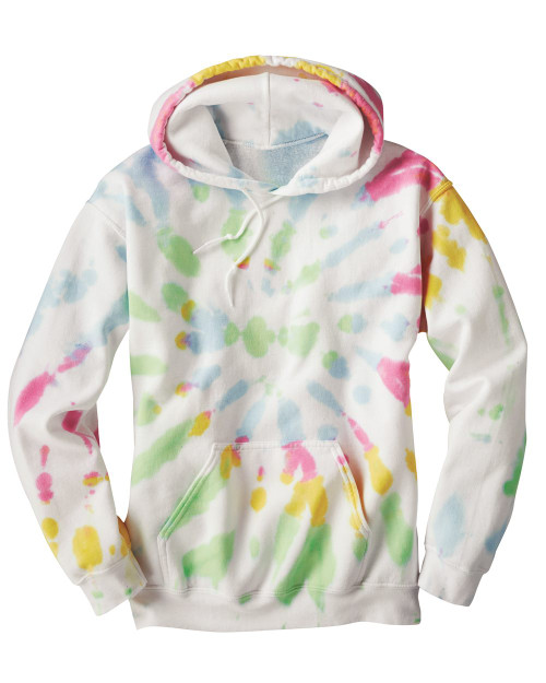 Dyenomite Tie Dye Blended Hooded Sweatshirt 680VR