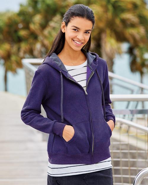Fruit of the Loom Women's Sofspun Full-Zip Hooded Sweatshirt LSF73R