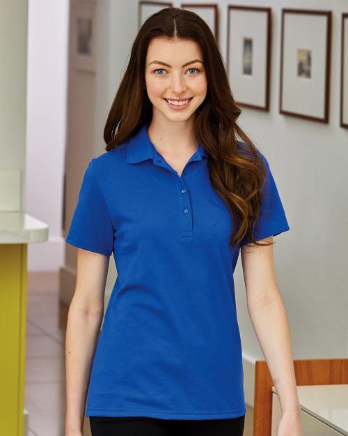 Hanes Women's X-Temp Pique Sport Shirt with Fresh IQ 035P