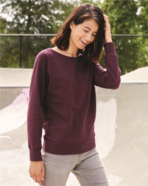 Independent Trading Co. Juniors' Heavenly Fleece Lightweight Sweatshirt SS240