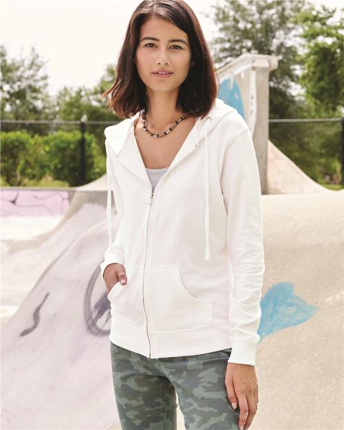 Independent Trading Co. Juniors' Heavenly Fleece Full-Zip Hooded Sweatshirt SS650Z