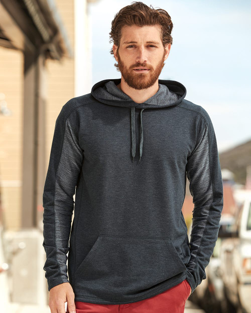 J. America Omega Stretch Hooded Pullover 8435
