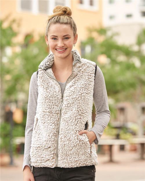 J. America Women's Epic Sherpa Full-Zip Vest 8456