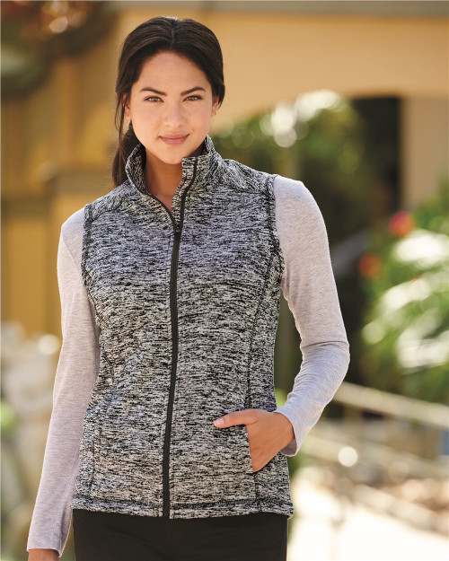 J. America Women's Cosmic Fleece Vest 8625