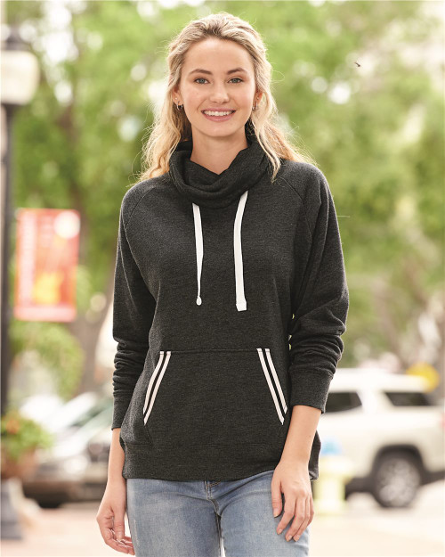 J. America Women's Relay Cowl Neck Sweatshirt 8653