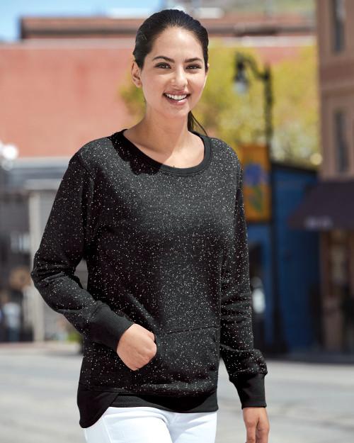 J. America Women's Glitter French Terry Sweatshirt 8867