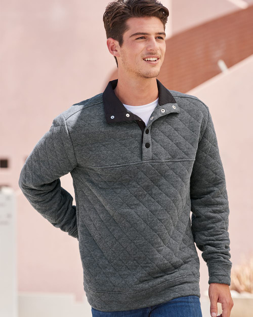 J. America Quilted Snap Pullover 8890