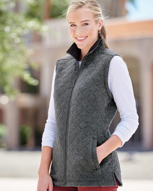 J. America Women's Quilted Full-Zip Vest 8892
