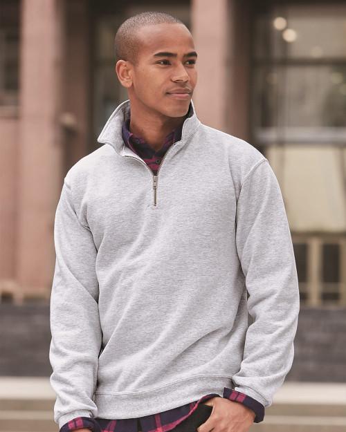 JERZEES Super Sweats NuBlend Quarter-Zip Cadet Collar Sweatshirt 4528MR