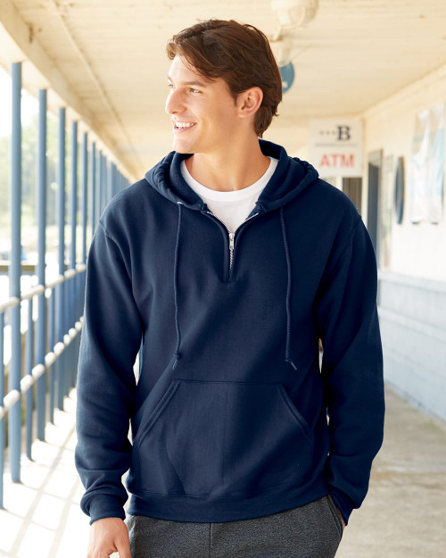 JERZEES NuBlend Quarter-Zip Hooded Sweatshirt 994MR