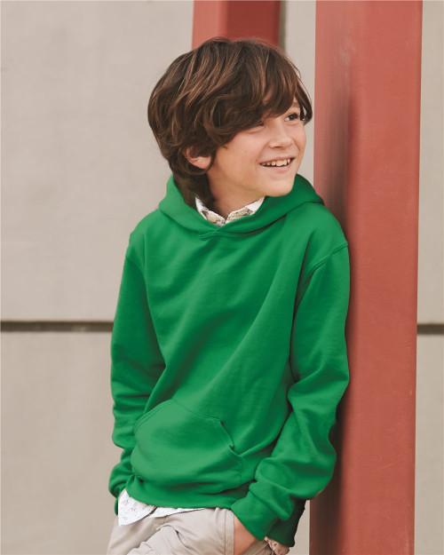JERZEES NuBlend Youth Hooded Sweatshirt 996YR