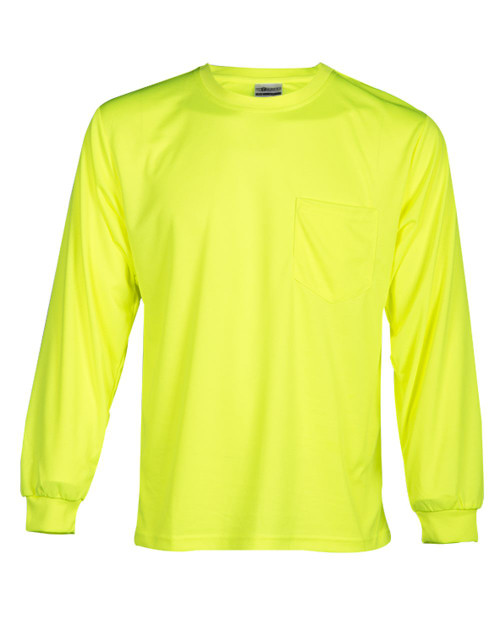 ML Kishigo Microfiber Polyester Long Sleeve T-Shirt 9122-9123