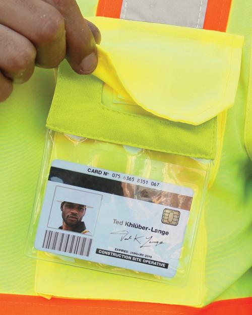 ML Kishigo Retractable Clear ID Pocket RTCID