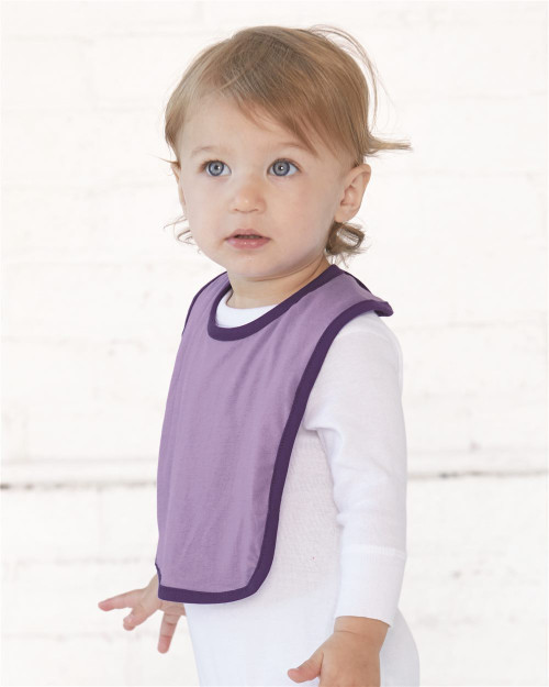 Rabbit Skins Infant Contrast Trim Premium Jersey Bib 1004