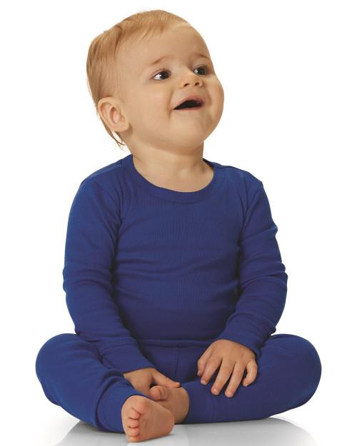 Rabbit Skins Infant Long Sleeve Baby Rib Pajama Top 101Z