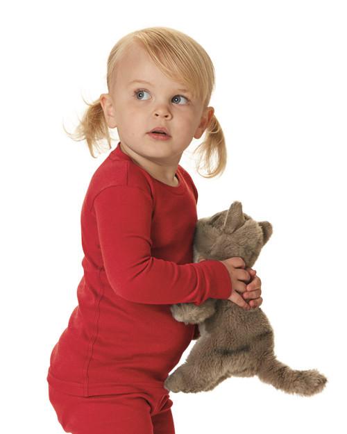 Rabbit Skins Toddler Baby Rib Long Sleeve Pajama Top 201Z