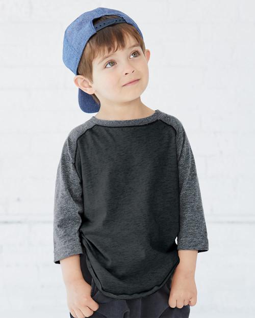 Rabbit Skins Toddler Baseball Fine Jersey Three-Quarter Sleeve Tee 3330