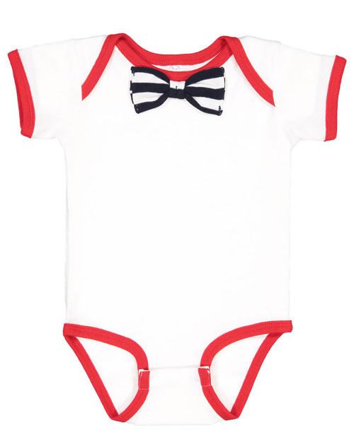 Rabbit Skins Baby Rib Infant Bow Tie Bodysuit 4407