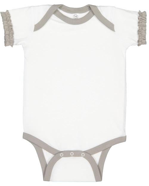 Rabbit Skins Infant Ruffle Fine Jersey Bodysuit 4429