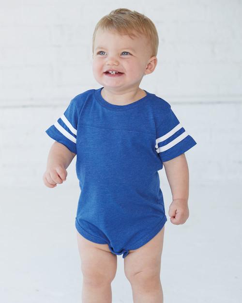 Rabbit Skins Infant Football Fine Jersey Bodysuit 4437