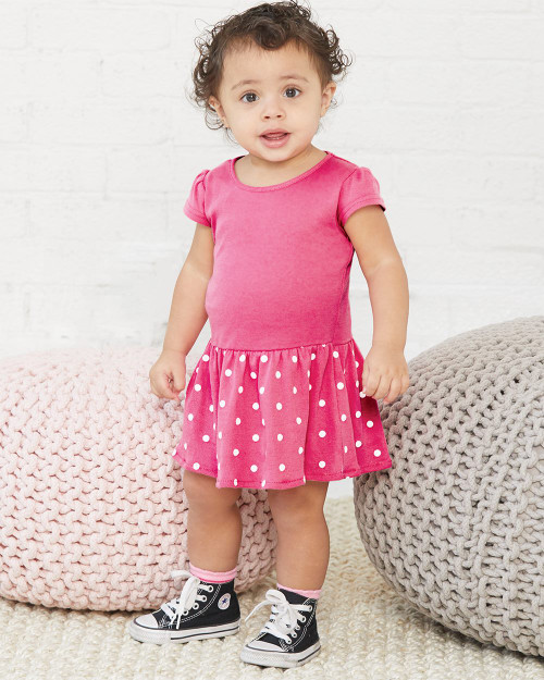 Rabbit Skins Infant Baby Rib Dress 5320