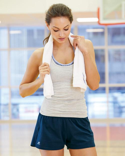 "Russell Athletic Women's Essential Jersey 3"" Inseam Shorts 64BTTX"