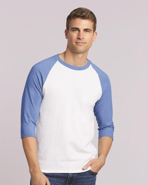 Gildan Heavy Cotton Raglan Three-Quarter Sleeve T-Shirt 5700