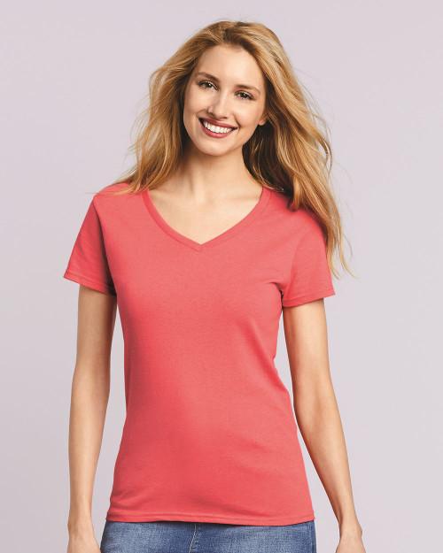 Gildan Heavy Cotton Women's V-Neck T-Shirt 5V00L