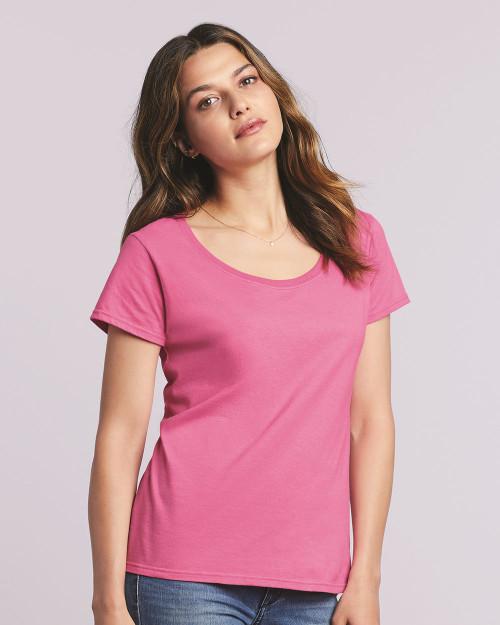 Gildan Softstyle Women's Deep Scoop Neck T-Shirt 64550L