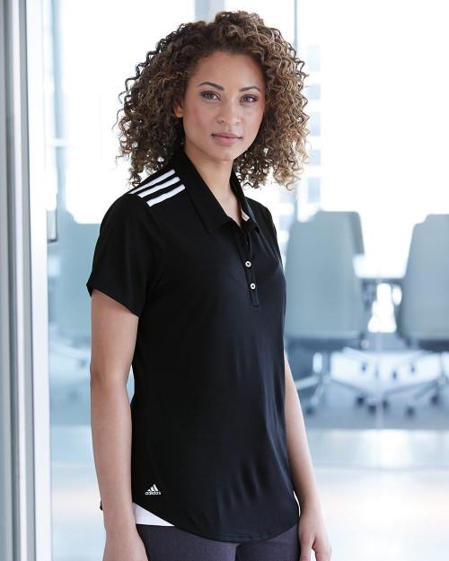 Adidas Women's Climacool 3-Stripes Shoulder Sport Shirt A235