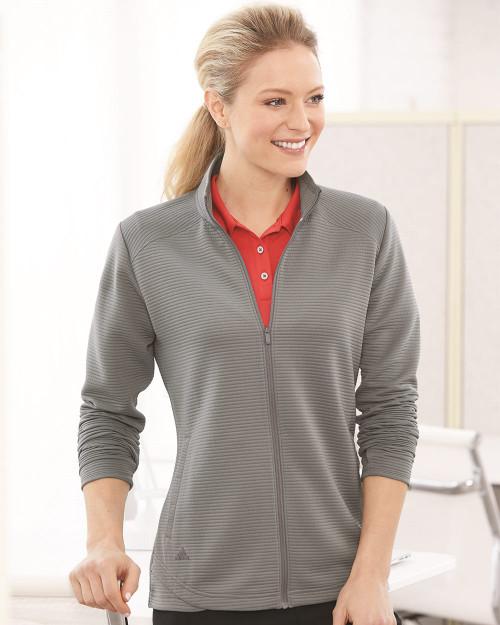 Adidas Women's Textured Full-Zip Jacket A416