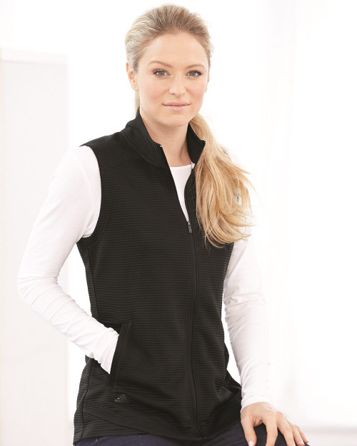 Adidas Women's Lifestyle Textured Full-Zip Vest A417