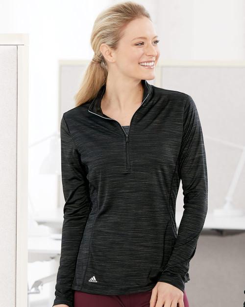 Adidas Women's Lightweight Melange Quarter-Zip Pullover A476