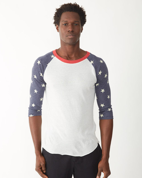 Alternative Printed Eco-Jersey Baseball Raglan Tee 2089ea