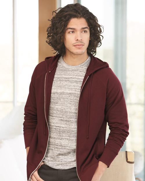 Alternative Vintage French Terry Hooded Full-Zip Raglan Sweatshirt 5061, 5081