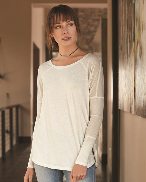 Alternative Women's Gauze Ramble Long Sleeve Raglan Tunic 6024