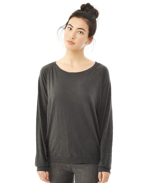 Alternative Slouchy Washed Slub Pullover Sweatshirt 61061