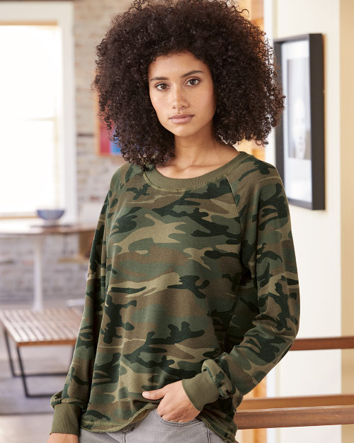 Alternative Women's Lazy Day Burnout French Terry Sweatshirt 8626
