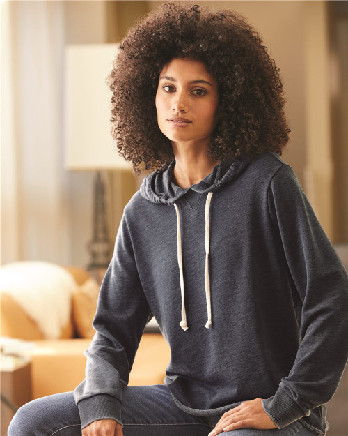 Alternative Women's Day Off Burnout French Terry Hooded Sweatshirt 8628