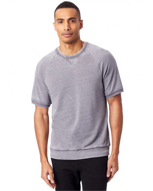 Alternative Coed Burnout French Terry Short Sleeve Sweatshirt 8631
