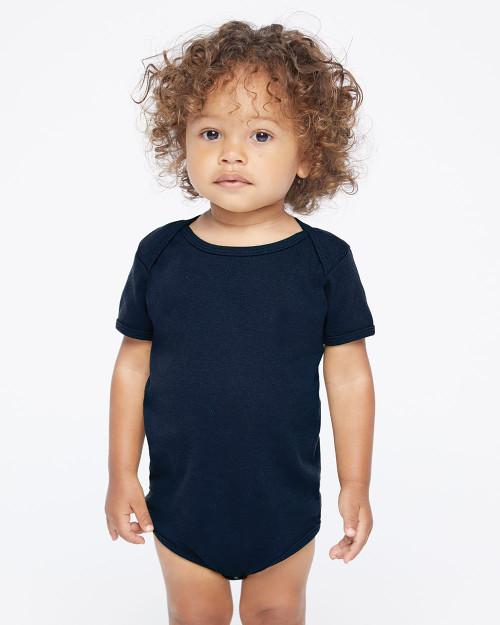 American Apparel Infant Baby Rib Onesie 4001W