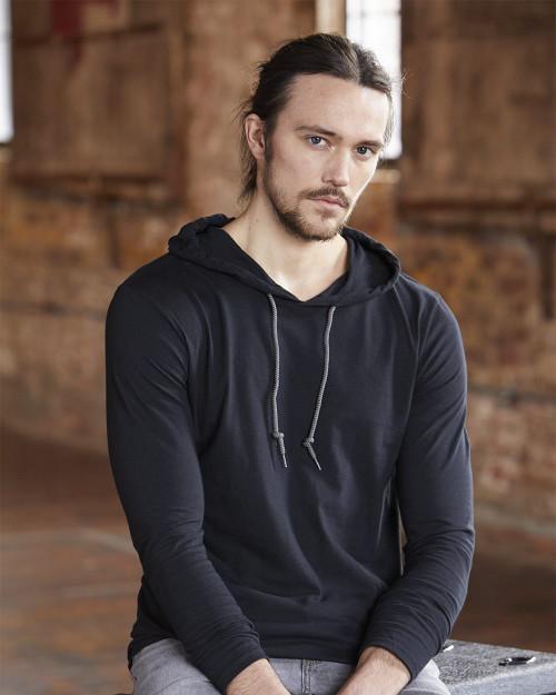 Anvil Lightweight Hooded Long Sleeve T-Shirt 987