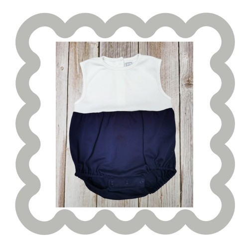 NAVY AND WHITE UNISEX BUBBLE