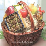 Fruit Basket of Joy. Filled with delicious fresh fruit and gourmet snacks. Local hand delivery only Miami and Ft. Lauderdale Florida