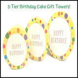 3 - Tier Birthday Cake Gift Towers