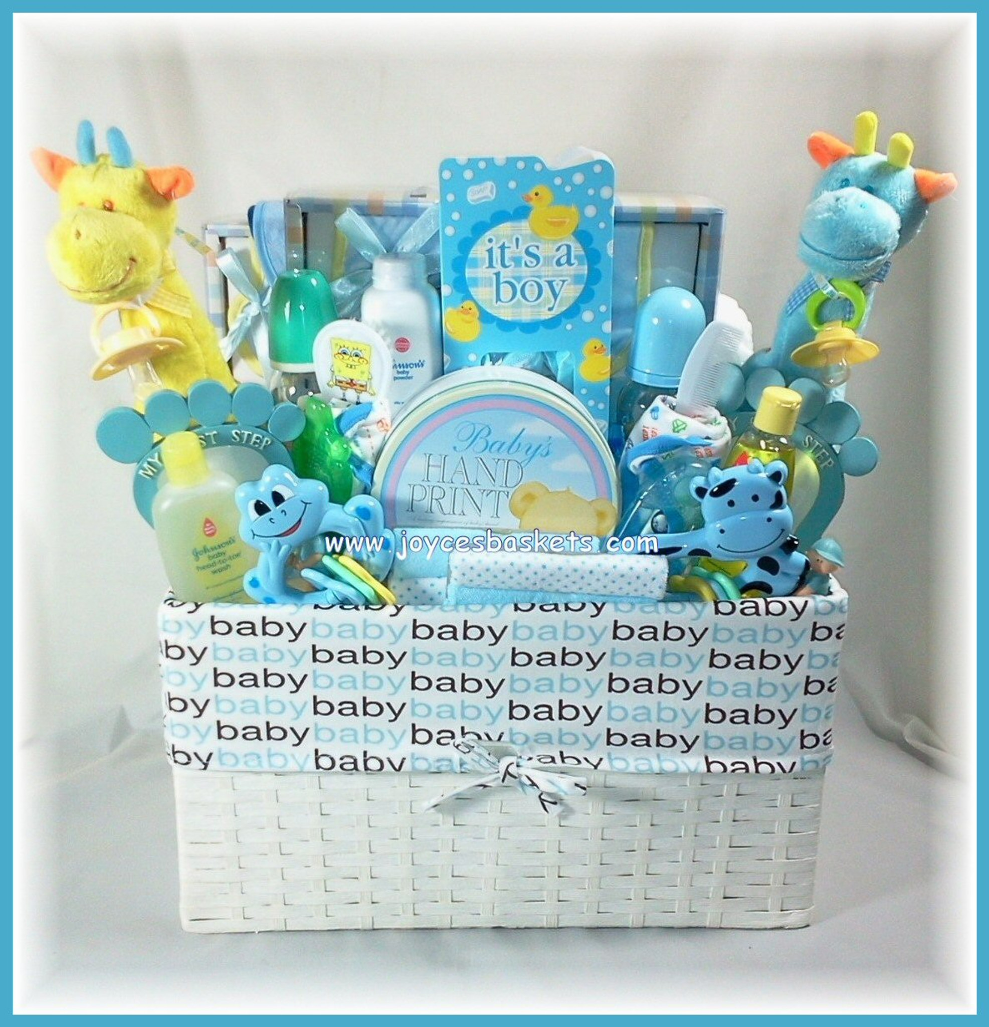 Twin Baby Boys - Gift Basket ...  sc 1 st  Joyceu0027s Baskets & Twin Baby Boys Gift Basket in Miami by Joyceu0027s Baskets