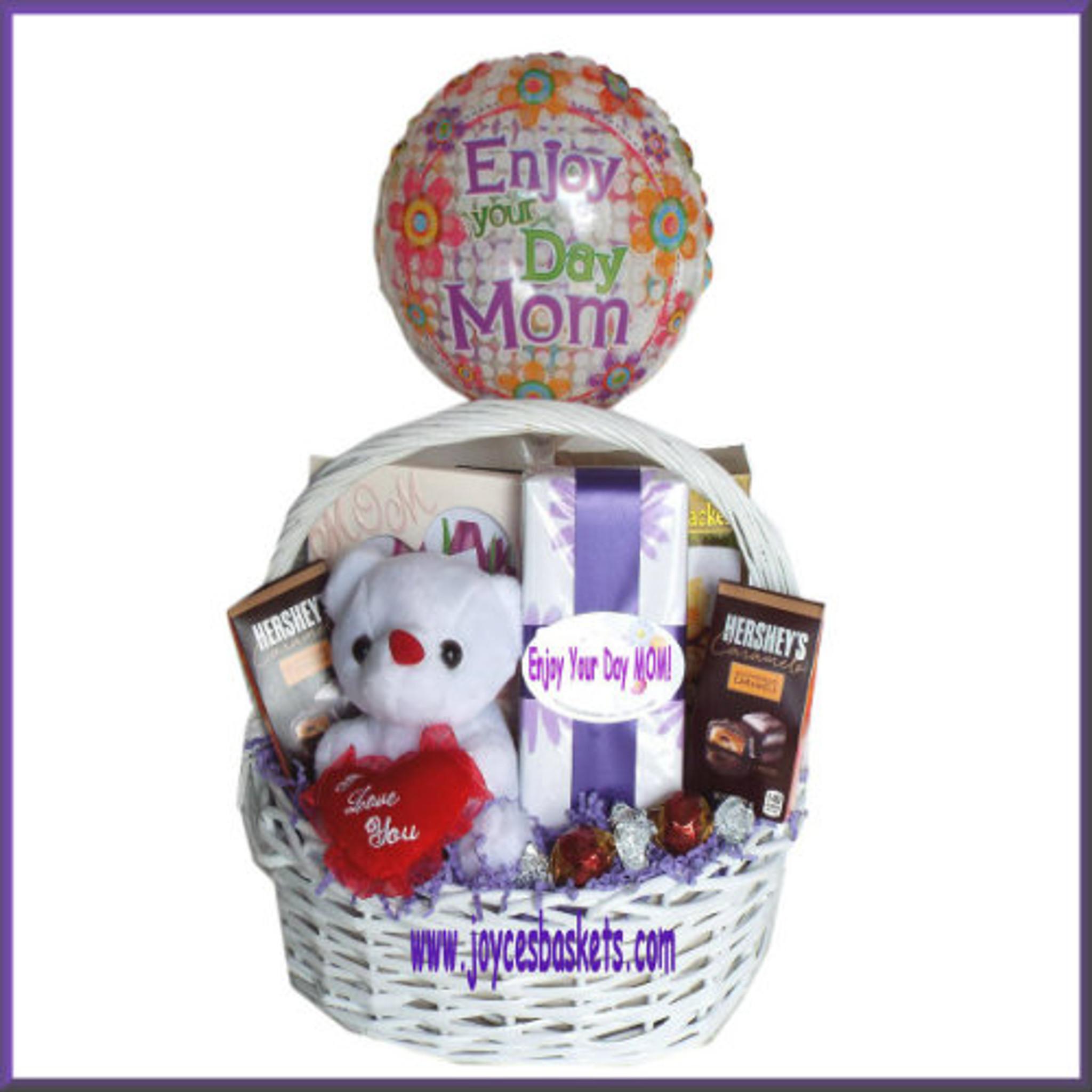 Enjoy Your Day - Momu0027s Birthday Gift Basket & Momu0027s Birthday Gift Basket | Birthday Gifts for Mom | Mom Birthday